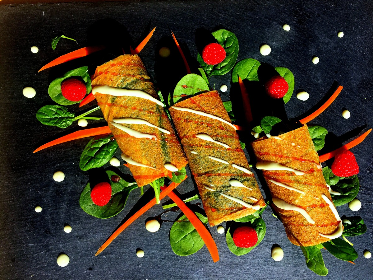 Wraps with Spinach and Carrots